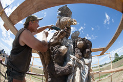Saturday July, 23 (B. Marshall) Tags: sculpting art chainsaw colorado