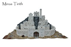 Minas Tirith (-Balbo-) Tags: city white king die minas lego lord des rings creation return hobbit der herr bauwerk pippin ringe tirith the moc faramir gondor denethor knigs rckkehr