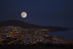 0099 (Lucillo.vm1) Tags: sky night canon noche los nikon luna coche cielo estrellas tenerife nocturna llena cristianos