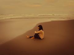contemplating (elly.sugab) Tags: beach human girl daughter morning sky pantai