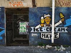 Ice Cream Mane (geowelch) Tags: downtown toronto urbanfragments wallart icecream panasoniclumixgx1 panasoniclumixgvario1232mm3556