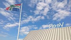 YrreF, Schaphalsterzijl, veer over het Reitdiep (Michiel Thomas) Tags: veer ferry boat reitdiep schaphalsterzijl vlag provincie groningen provincialevlaggroningen groninger flag flagge