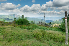 Widokowy Główny Szlak Beskidzki. Skrzyczne na pierwszym planie, Beskid Mały w tyle (czargor) Tags: beskidy beskidslaski mountains mountainside baraniagora sightseeing
