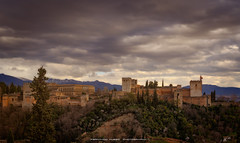 The Red Fortress (Fernando Hueso Photography) Tags: alhambra granada andalucia andalusia espaa spain fortress palace nazari sunset city monument south clouds albaicin travel seven wonder