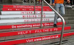 Give Blood, do something amazing (photobobuk - Robert Jones) Tags: bullring birmingham blood amazing donate care help england uk