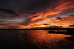 Pennington Flash sunset (DavidRHScott) Tags: sunset penningtonflash leigh wigan lancashire nikon manfrotto zomei sigma