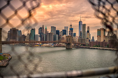 Big City (angheloflores) Tags: newyork city manhattan brooklyn bridge cityscape clouds sky colors summer travel architecture building urban explore bokeh nyc