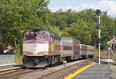 413 @ Ayer (imartin92) Tags: ayer massachusetts mbta massachusettsbaytransportationauthority commuter rail fitchburg line passenger train emd f40ph2c locomotive