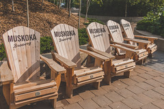Lounge (A Great Capture) Tags: seat chair muskoka brewery branded adirondack westportplankchair agreatcapture agc wwwagreatcapturecom adjm toronto on ontario canada canadian photographer northamerica ash2276 ashleylduffus ald mobilejay jamesmitchell summer summertime 2016 adirondackchair wood wooden brickworks muskokabrewery donvalley lower evergreen evergreenbrickworks chairs seats haveaseat