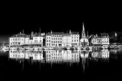 """reflections and dramatic high contrast black and white view of Quai St Etienne, Honfleur, Normandy, France (grumpybaldprof) Tags: """"vieuxbassin"""" """"oldharbour"""" honfleur normandie normandy france """"quaistecatherine"""" """"quaiquarantaine"""" quai """"quaistetienne"""" """"stecatherine"""" """"lalieutenance"""" quarantaine water boats sails ships harbour historic old ancient monument picturesque restaurants bars town port bw lights reflection architecture buildings mooring sailing stone collombage halftimbered yachts """"blackwhite"""" """"blackandwhite"""" monochrome highcontrast hdr hdrbw reflections stricking dark black fine art fineart dramatic beautiful elegant tamron 16300 """"tamron16300mmf3563diiivcpzdb016"""""""