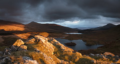 Sublime evening light floods onto Clogwyn y Garreg (Nick Livesey Mountain Images) Tags: