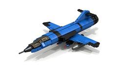 Third Generation Interceptor  (Prussian Prince) Tags: ldd digital lego war plane interceptor pov ray