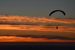 DSC_1773 (JustineChrl) Tags: sunset coucher de soleil auvergne france puydedome volcan montagne nature landscape paysage colors orange red blue sky clouds sun parapente parasailing nikon nikond3200 out