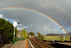 Rainbow at Grange over Sands - 5 (Tony Worrall) Tags: england northern uk update place location north visit area county attraction open stream tour country welovethenorth northwest unitedkingdom cumbria cumbrian grange grangeoversands nature beauty rainbow scene sky natural lovely color colours great station grangestation railway