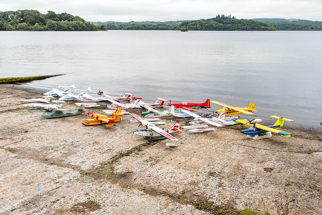 Some of the seaplanes out on display.