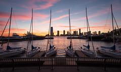 Sunset on the Hudson River (dansshots) Tags: sunset hudsonriver sailboat sailboats brookfieldplace northcoveyachtharbor 1735mm nikond3 nikon dansshots