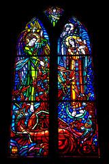 Vitrail (dprezat) Tags: montsaintmichel saintpierre vitrail normandie manche baie ilot eglise abbatiale abbaye bénédictins moines cloître pèlerinage patrimoine unesco nikond800 nikon d800