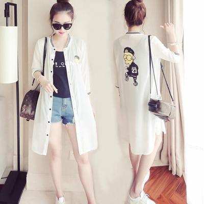 Plus Größe Sonne Kleid Mädchen Sommer lang chiffon Ärmel Sun Shirt UV super dünne Strickjacke Schal Mantel
