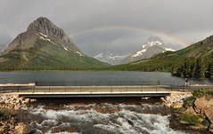 Couple Admiring Rainbow (delphinusorca) Tags: swiftcurrentlake glaciernationalpark montana tokina1224mm