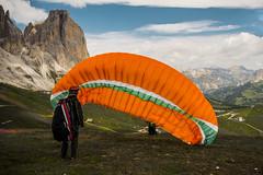 ValDiFassa-Parapendio (Marco Di Ferrante) Tags: dolomiti parapendio alpi alps canazei mountain orange wing