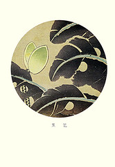 Japanese banana (Japanese Flower and Bird Art) Tags: flower banana musa basjoo musaceae jakuchu ito ukiyo woodblock picture book japan japanese art readercollection