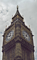(TheMachineStops) Tags: england greatbritain uk clock tower face london film 2003 bigben westminster pentax vacation hourhand dial clocktower travel europe 35mmscan analog outdoor architecture