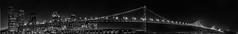 rincon point panorama (pbo31) Tags: sanfrancisco california night nikon d810 september 2016 summer boury pbo31 dark black blackandwhite city urban panoramic large stitched panorama pier30 embarcadero southbeach baybridge 80 bridge rinconhill skyline
