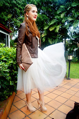 Ballerina by The Joy of Fashion (5) (the joy of fashion) Tags: fashion feminine style romantic outfits leatherjacket motorcyclejacket tulleskirt fashionblog tutuskirt joyoffashion