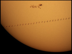 ISS Solar transit - 7/1/12 (zAmb0ni) Tags: sky sun station space international astrophotography transit astronomy iss