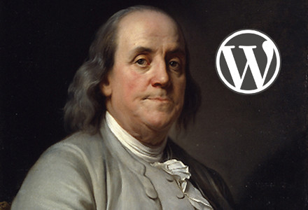 Benjamin Franklin with WordPress Logo by thomashubbard, on Flickr