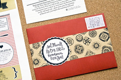 Picnic Invitations (mushab00m) Tags: wedding red picnic mail invitation mailart