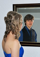 Twin Exposure (442iMAGES) Tags: reflection photoshop mirror twins prom cs3 d90
