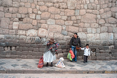 Women & Child (HurrySlowly) Tags: old family boy woman peru southamerica hat stone wall cuzco bag child lift pavement candid young tie sidewalk sling wait sack carry holdhands qusqu cuscoregion cuscoprovince cuscodistrict