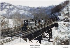 N&W 1646 & 1726 (Robert W. Thomson) Tags: railroad train nw diesel railway trains westvirginia locomotive trainengine crum norfolkandwestern sd45 emd sd402 sd40 sixaxle