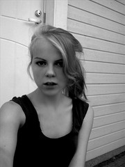 Fury (prettylittlelife7) Tags: bw bwgirlnatureblondeblondportraitemotionsimple
