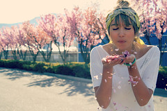 (sierra.bethh) Tags: pink summer girl sunshine spring pretty wind blossoms