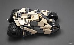 Stolen Tumbler (_Tiler) Tags: lego camo camouflage batman modified rocket minifig dccomics batmobile armored launcher rocketlauncher moc tumbler thedarkknight minifigscale thedarkknightrises tdkr