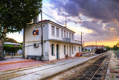 Dikea railway station (nikolaos p.) tags: eisenbahn railway trains