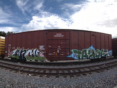 LUNCH • TAHOE (TRUE 2 DEATH) Tags: railroad sky train lunch graffiti pano tag graf tahoe trains panoramic railcar spraypaint railways stitched railfan freight cloudporn mul freighttrain rollingstock autopano パノラマ stitchedpanorama autopanopro stitchted benching ync freighttraingraffiti