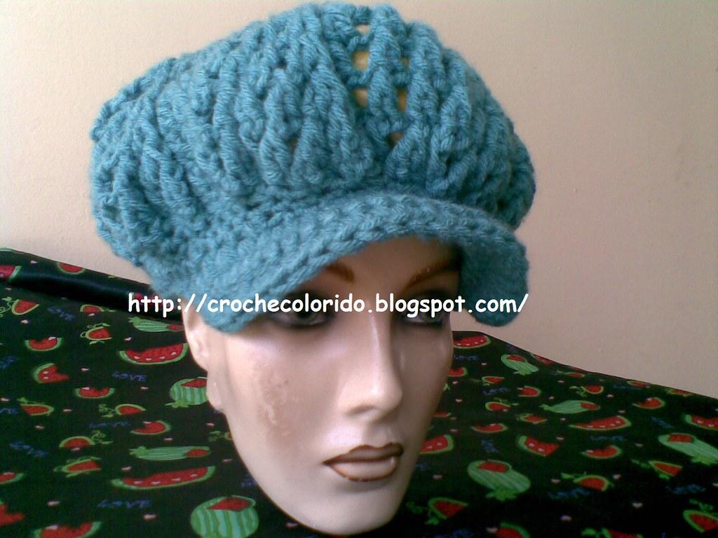 Boina Croche (Croche Colorido) Tags  hat crochet beret boina croche  crochethat crochetberet crochecolorido 0d21f9811ba