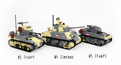 My Allied Armor (Florida Shoooter) Tags: lego armor ww2 allies m4sherman m3stuart