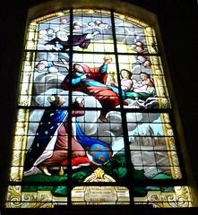 Church of Saint-Louis en lle, Paris: stained glass: Louise de Marillac (John Steedman) Tags: paris france window frankreich stainedglass frankrijk francia stainedglasswindow parijs  parigi