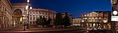 MILANO 2012 - panoramica di piazza della scala (Enrico EPH) Tags: milan night landscape nikon milano panoramica scala photomerge duomo hdr paesaggio navigli d800 notturno