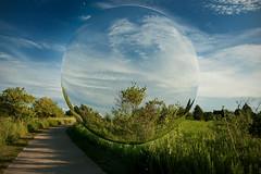 Visit (Tau Zero) Tags: mirror ufo sphere bubble meadowbrookpark gardenglobe