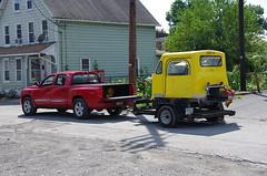 Now It's Time For The Truck To Do All The Work - IMGP6474 (geepstir) Tags: car reading pennsylvania rail pa shamokin speeder sunbury narcoa
