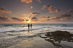 Fishing tournament #2 - hey, the game is not over yet! (Hemo Kerem) Tags: sunset seascape beach water sony hitech platinumheartaward tokina1116mmf28 bestcapturesaoi elitegalleryaoi flickraward5 sonya55 ruby5