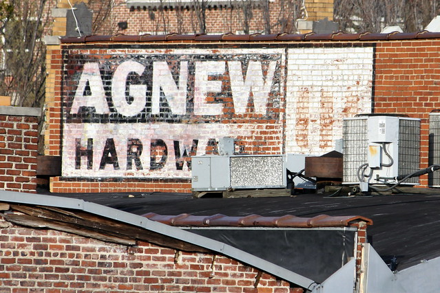 Agnew Hardware old sign - Chattanooga