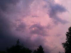 Strange sky... (Lilahjb) Tags: storm weather clouds purple melancholy lavandar adobephotoshopexpress