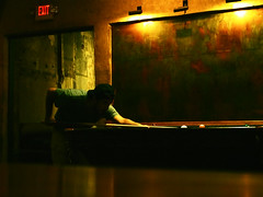 Making The Shot (Professor Bop) Tags: man color pool billiards professor zuiko mosca f20 1435 makingtheshot bopdr jazzolympus e5olympus