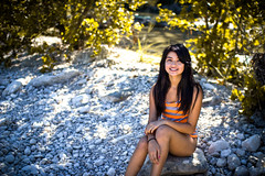 christina near the lake (its just a hobby) Tags: world portrait test art field canon austin real eos bokeh 4 sigma depth lightroom t3i 30mm 600d